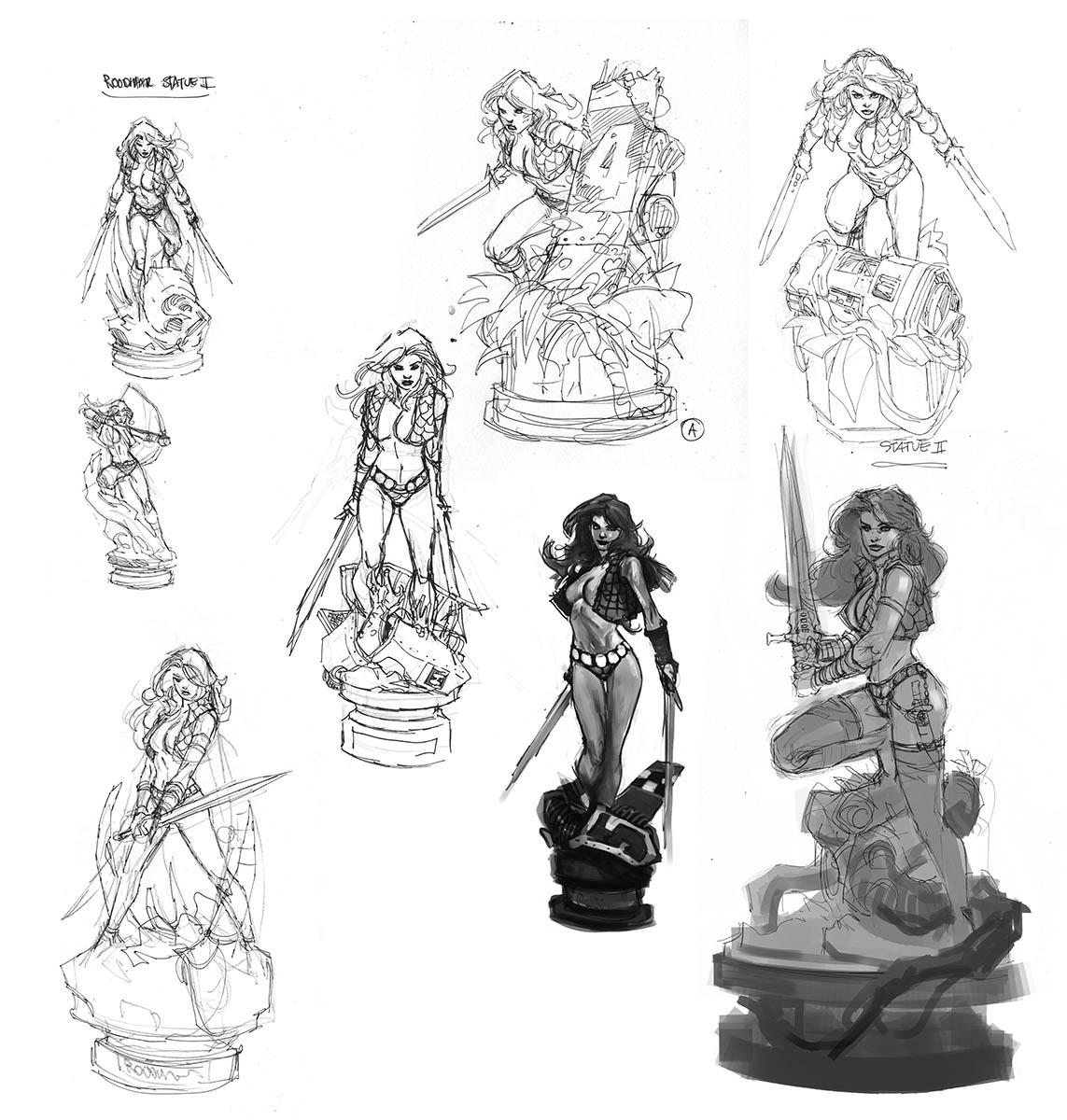 Sketches Storm main hero figurine
