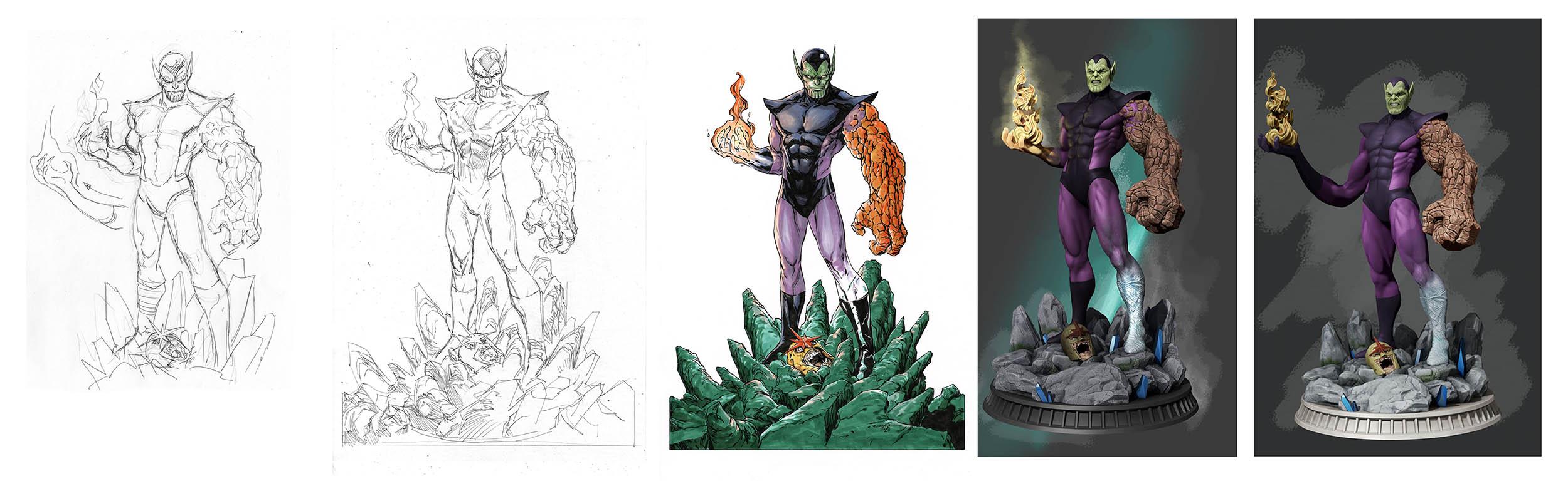 SuperSkrull hero figurine