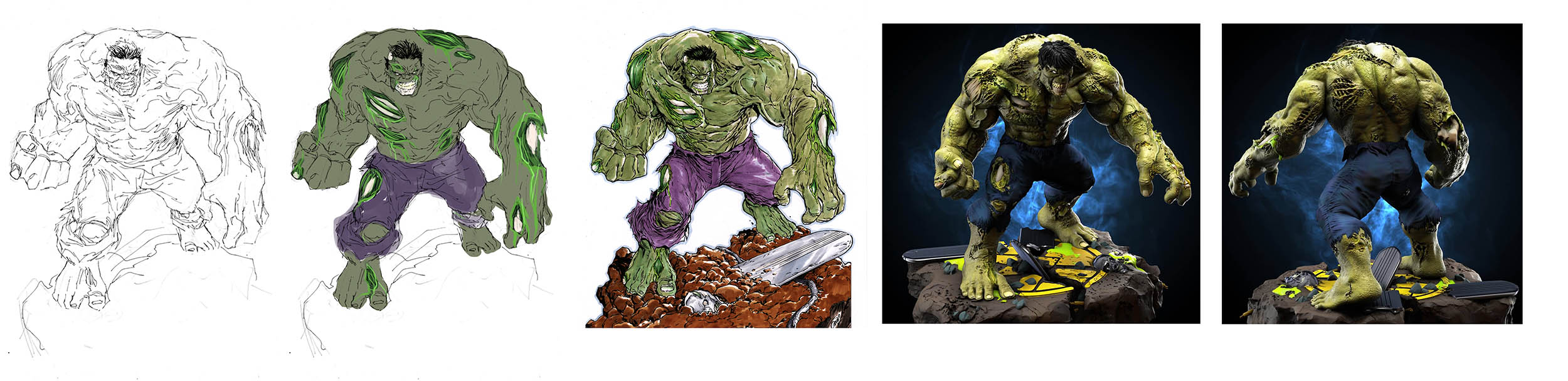 Zombie Hulk hero figurine