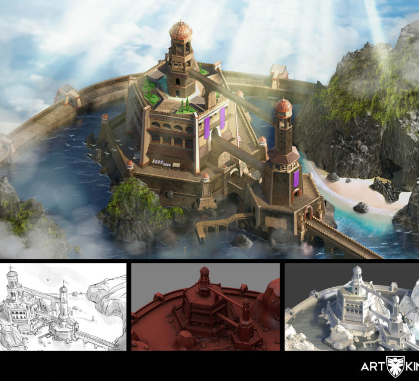 Environment and building rendering